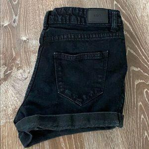 BDG Mid Rise Alexa black shorts